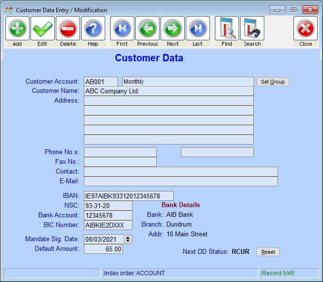 AutoPay Direct Debit Software Customer Screenshot